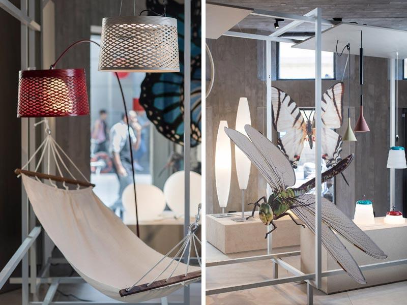 allestimento showroom Foscarini estate 2019