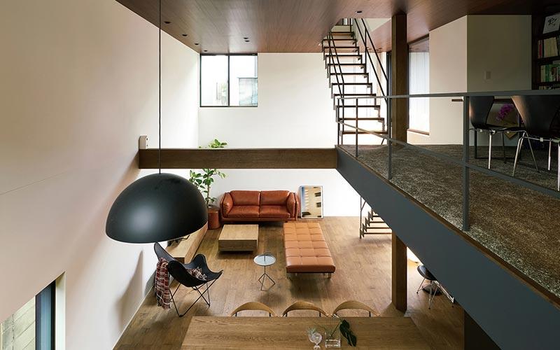 casa stile loft con soppalco