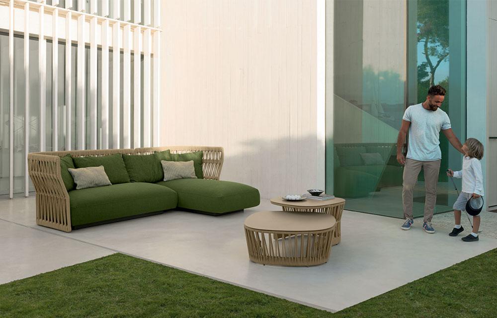 divano giardino fibra sintetica