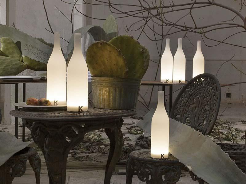 lampada da tavolo senza fili vetro satinato