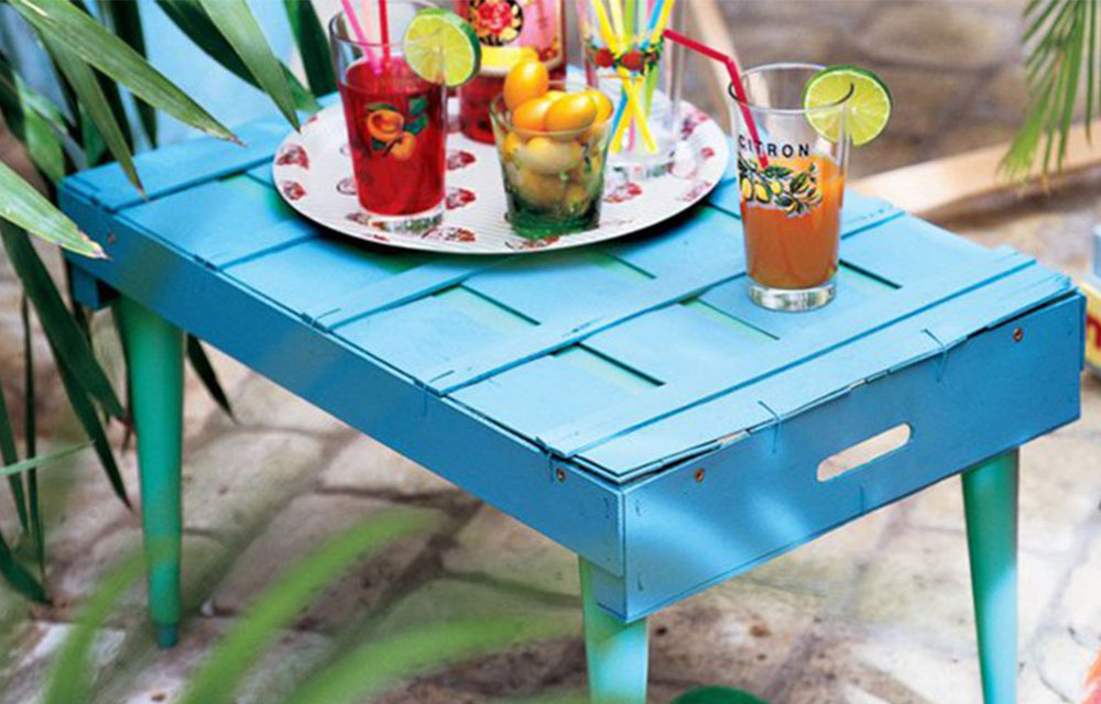 tavolino da giardino fai da te