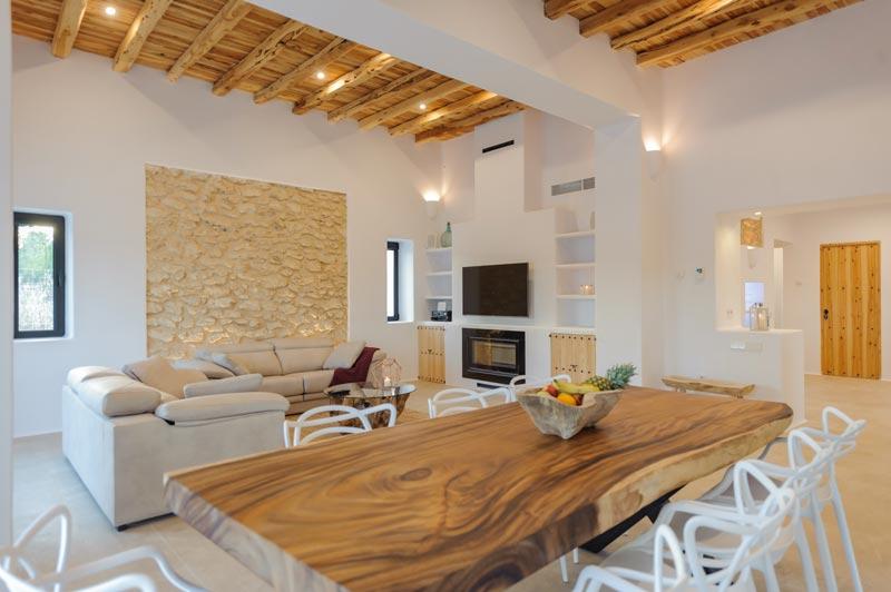 soggiorno in stile mediterraneo