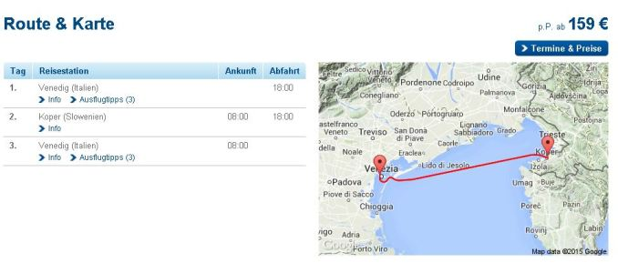 Kreuzfahrt Italien