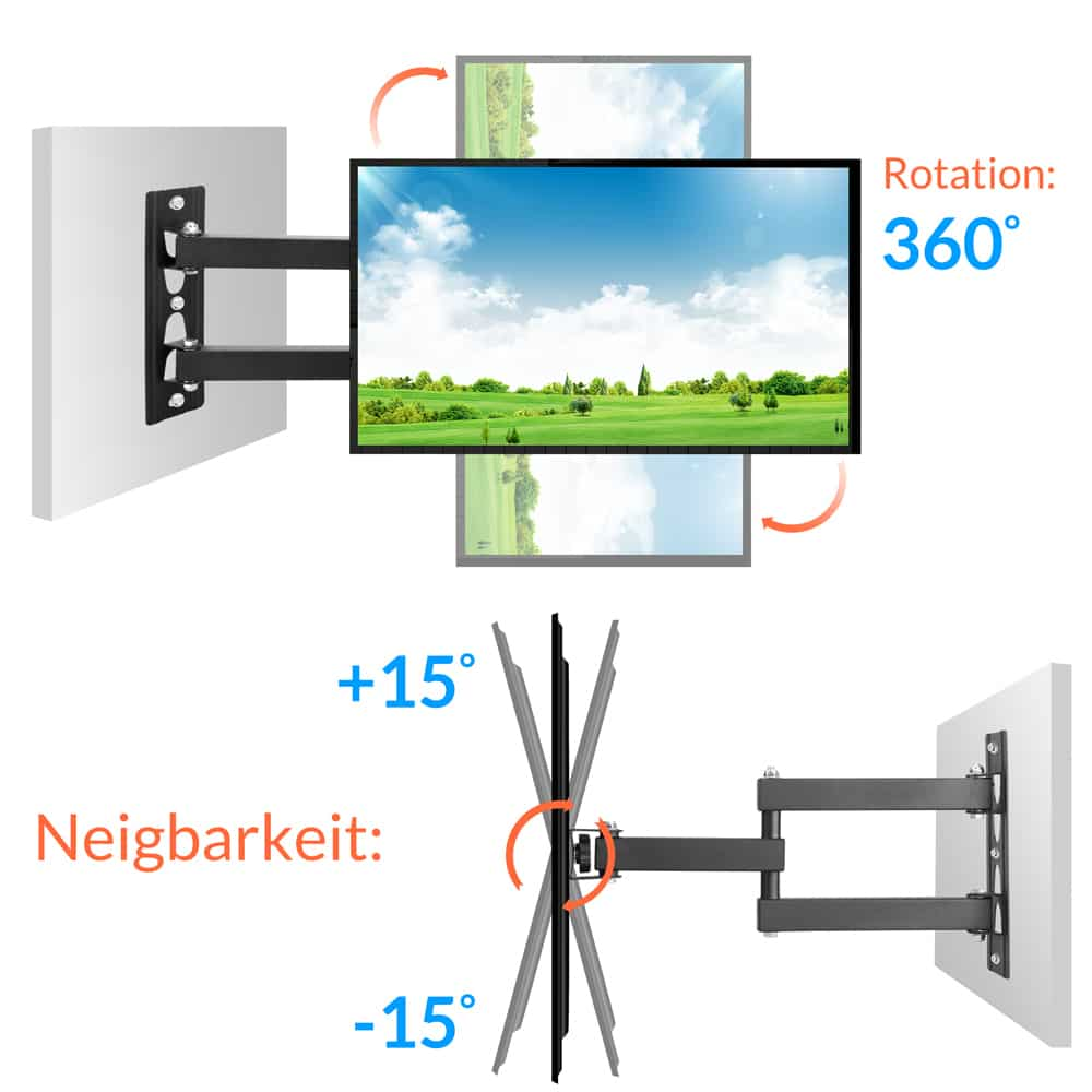 support mural tv norme vesa max 42 pouces fixation murale ecran lcd inclinable