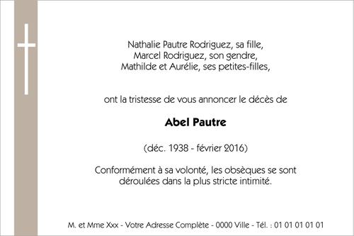 Faire Part Décès Collection De Faire Part De Décès