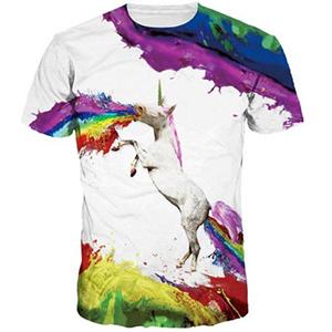 Sabes que los unicornios nunca pasan de moda, y las camisetas tampoco.¡Luce tu gusto por los unicornios por la calle!.