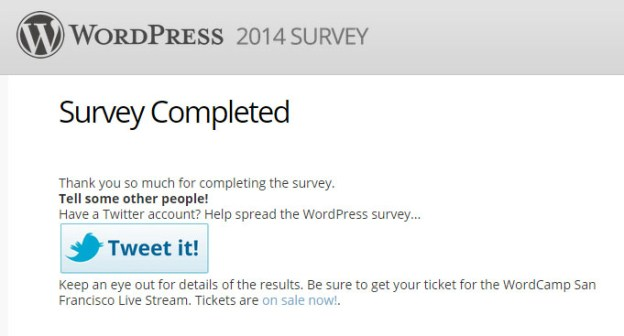WordPress 2014 Survey Completed
