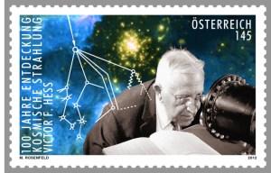 Victor Franz Hess Entdeckung der kosmischen Strahlung Sondermarke Österreich