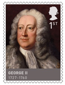 Royal Mail stamp of George II August