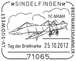 Sonderstempel Tag der Briefmarke MAMA Internationale Briefmarken-Börse Sindelfingen