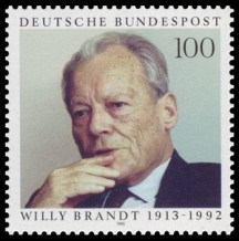 Willy Brandt Briefmarke von 1993