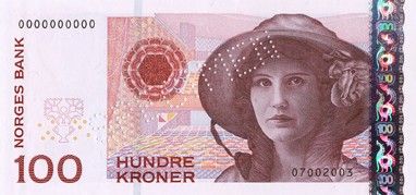 Norwegen 100-Kronen-Note Kirsten Flagstad
