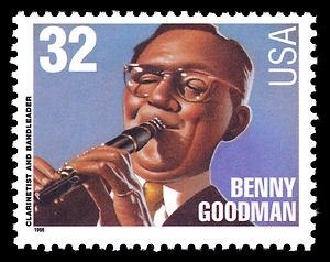 Briefmarke USA 1996 Benny Goodman MiNr. 2763