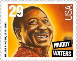 Muddy Waters auf Briefmarke aus den USA 1994