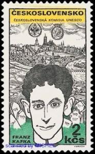 Briefmarke der Tschechoslowakei von 1969 mit Franz Kafka.