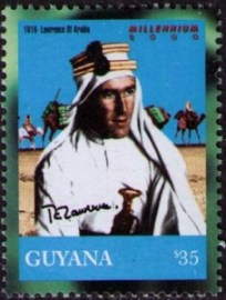 Thomas Edward Lawrence auf Briefmarke aus Guyana