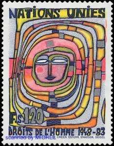 Friedensreich Hundertwasser Briefmarke 1983