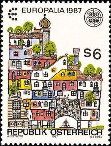 Friedensreich Hundertwasser Briefmarke von 1987