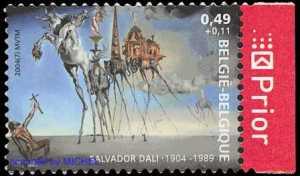 Salvador Dali Briefmarke Belgien 2004