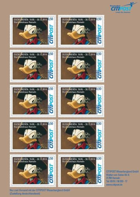 Donald-Duck-Briefmarken