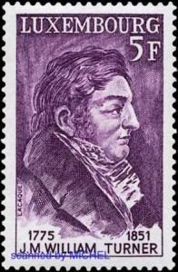 William Turner auf Briefmarke aus Luxemburg