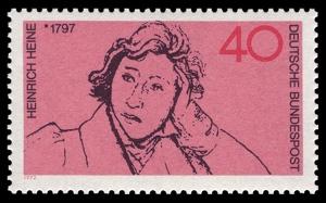Heinrich Heine auf Briefmarke von 1972