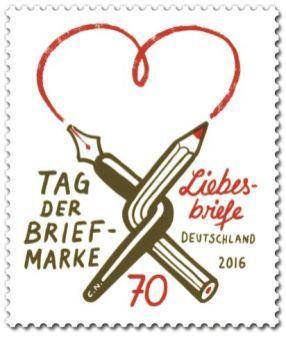 """Serie """"Tag der Briefmarke"""" 2016: Liebesbriefe"""