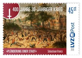 30 Jahre Krieg LVZ Post Briefmarke Neuheit