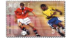 Fussball Legenden Norwegen Brasilien Briefmarke