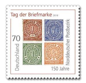 Briefmarke 150 Jahre Norddeutscher Postbezirk