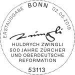 Stempel Bonn Huldrych Zwingli