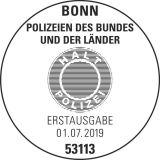 Stempel Bonn Deutsche Polizeien