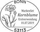 Stempel Bonn Kornblume