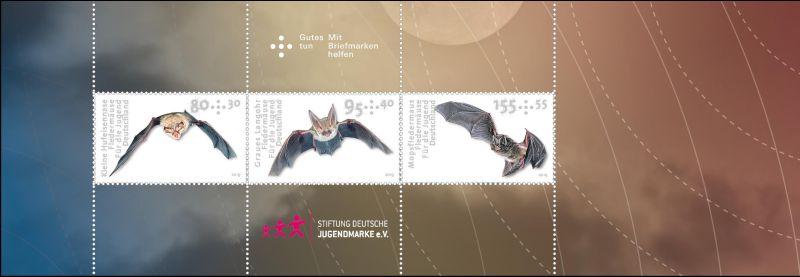 Briefmarken Deutschland Zusammendruck Fledermaeuse