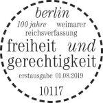 Briefmarke Deutschland 100Stempel Berlin Jahre Weimarer Verfassung
