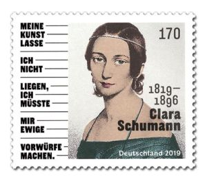 Briefmarke Deutschland Clara Schumann