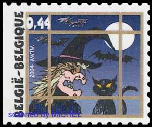 Briefmarke Belgien Halloween
