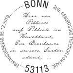 Stempel Bonn Theodor Fontane