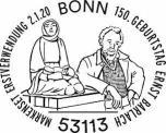 Stempel Bonn Ernst Barlach