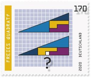Briefmarke Deutschland Optische Täuschungen