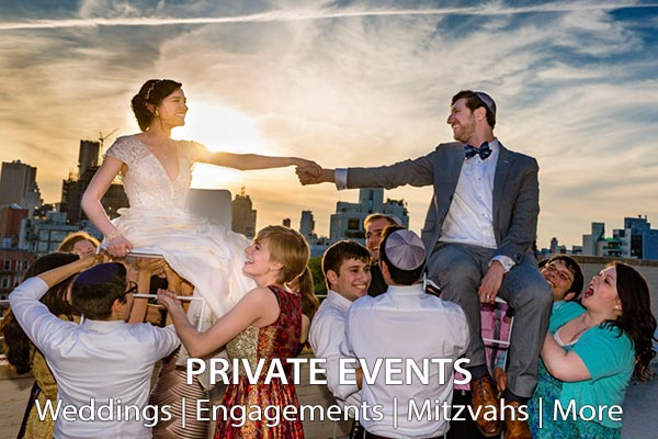 Private Events: Weddings, Engagements, Mitzvahs and More