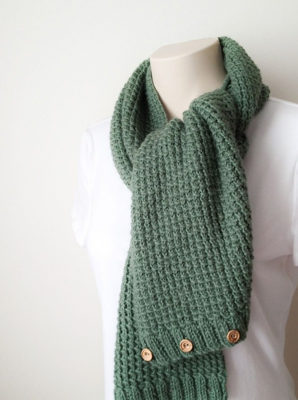 Knitting Pattern Textured Scarf and Cowl