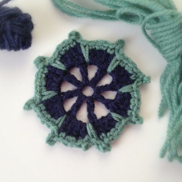 "Crochet Motif from ""Beyond the Square Crochet Motifs"""