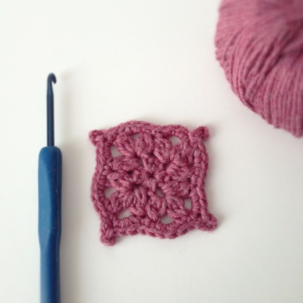 Tiny Square Crochet Motif