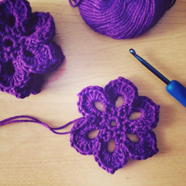 Crochet motif flower scarf - Project 365 - Day 72