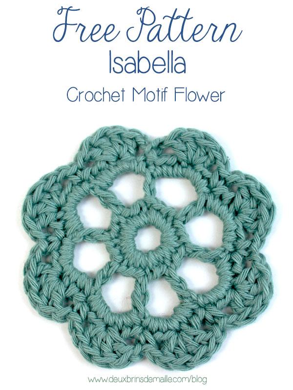 Free Pattern Isabelle Crochet Motif Flower