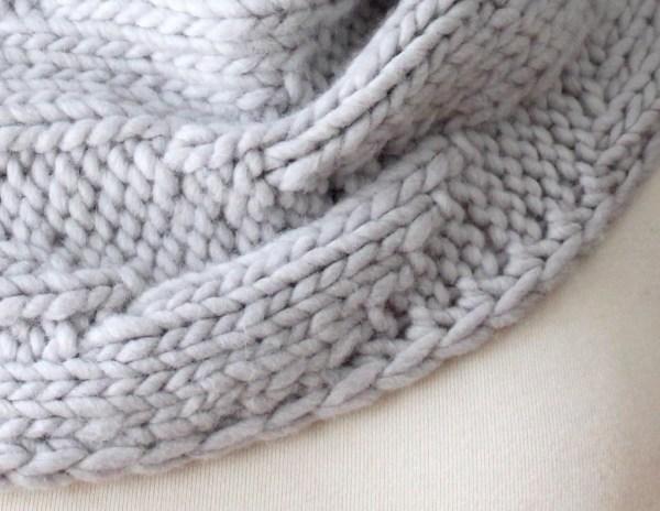 Knitting Pattern Geometric Cowl Deux Brins de Maille 2