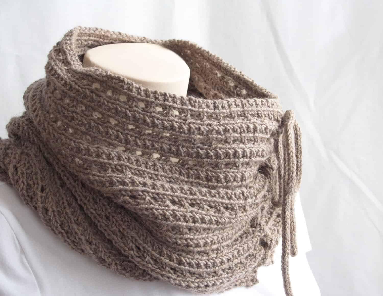 Cowl Knitting Pattern 4 Ply : Knitting Pattern : The Mokaccino Cowl