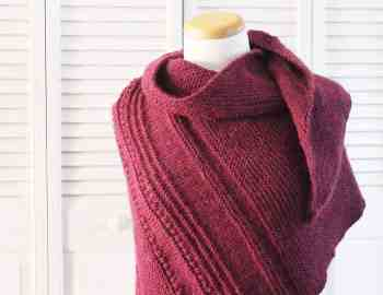 Knitting Pattern Comfort Shawl 1