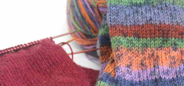 2 Pairs of Knitting Socks Wait For Me